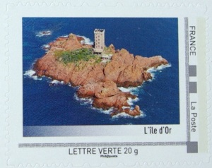 île d'or timbre